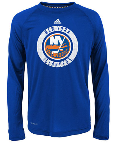 adidas New York Islanders Practice Graphic Long Sleeve T-Shirt, Big Boys (8-20)