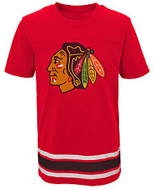 Outerstuff Chicago Blackhawks Captain T-Shirt, Big Boys (8-20)