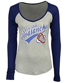 Retro Brand Women's Colorado Avalanche Raglan Long Sleeve T-Shirt