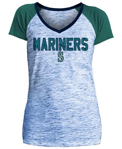 5th & Ocean Women's Seattle Mariners Space Dye Stone T-Shirt