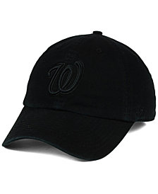 '47 Brand Washington Nationals Black on Black CLEAN UP Cap