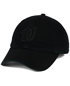 '47 Brand Washington Nationals Black on Black CLEAN UP Cap