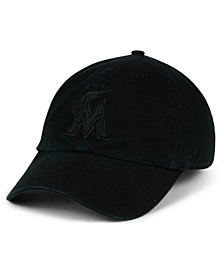 '47 Brand Miami Marlins Black on Black CLEAN UP Cap