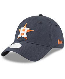 New Era Houston Astros Team Linen 9TWENTY Strapback Cap