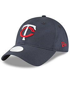 New Era Minnesota Twins Team Linen 9TWENTY Strapback Cap