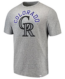 Majestic Men's Colorado Rockies Twisted Stripe T-Shirt