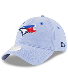 New Era Toronto Blue Jays Team Linen 9TWENTY Strapback Cap