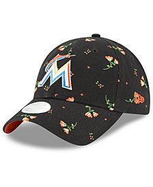 New Era Miami Marlins Blossom 9TWENTY Strapback Cap