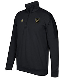 adidas Men's Los Angeles Football Club Logo Set Quarter-Zip Fleece Pullover