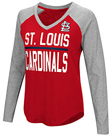 G-III Sports Women's St. Louis Cardinals Power Hitter Raglan T-Shirt