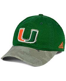 adidas Miami Hurricanes Camo Code Slouch Cap