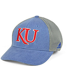 adidas Kansas Jayhawks Faded Flex Cap