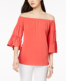 NY Collection Petite Convertible Off-The-Shoulder Top