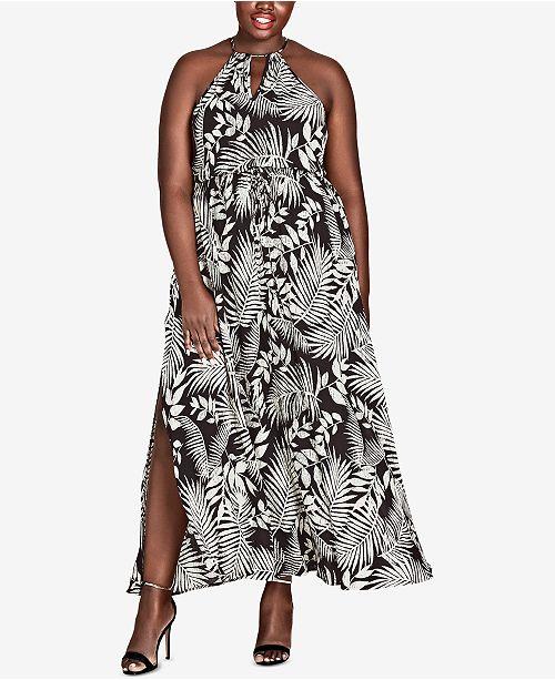 City Chic Trendy Plus Size Halter Maxi Dress & Reviews ...