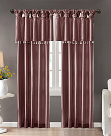 Madison Park Emilia Lined Faux-Silk Twisted Tab Window Panel Collection