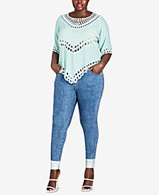 City Chic Trendy Plus Size Crochet Top
