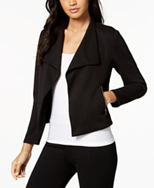 Calvin Klein Open-Front Moto Jacket