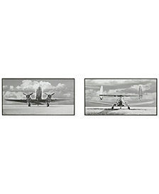 Madison Park Aviation 2-Pc. Gel-Coated Printed Deco Box Wall Art Set