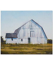 Madison Park Old White Barn Gel-Coated Canvas Print