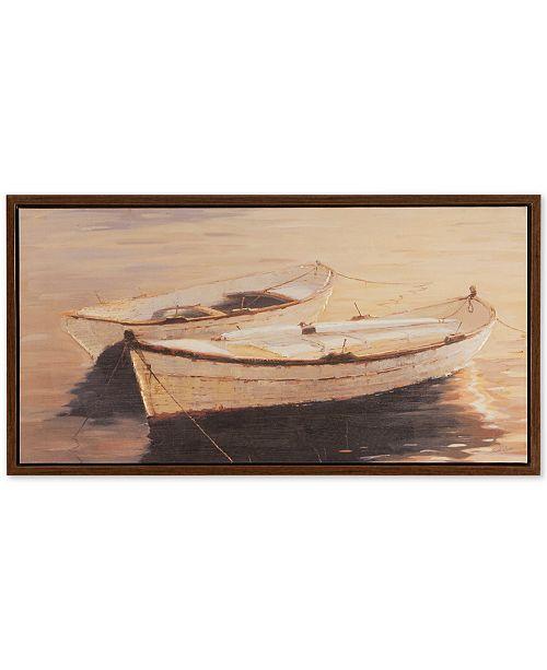 JLA Home Madison Park Autumn Sails Framed Heavy Brushed Gel-Coated Canvas Print