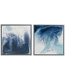 Madison Park Blue Lagoon 2-Pc. Framed Gel-Coated Canvas Print Set