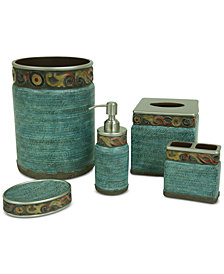 Jessica Simpson Elara Teal Bath Accessories Collection