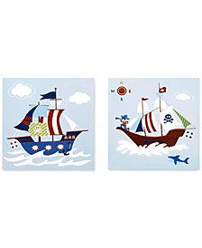 Mi Zone Kids Ahoy Matey 2-Pc. Printed Dimensional Box Wall Art Set