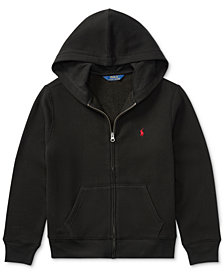Ralph Lauren Boys' Full Zip Hoodie, Big Boys