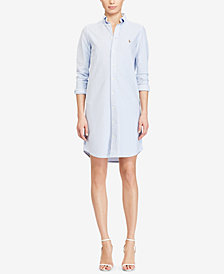 Polo Ralph Lauren Striped Oxford Cotton Shirtdress