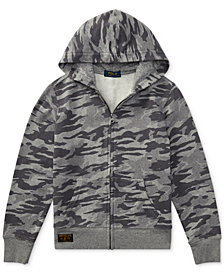 Polo Ralph Lauren Camouflage Cotton Hoodie, Little Boys