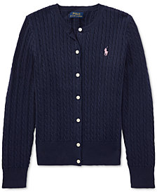 Ralph Lauren Cable Cardigan, Big Girls