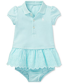Polo Ralph Lauren Cotton Polo Dress, Baby Girls