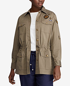 Lauren Ralph Lauren Plus Size Twill Utility Jacket
