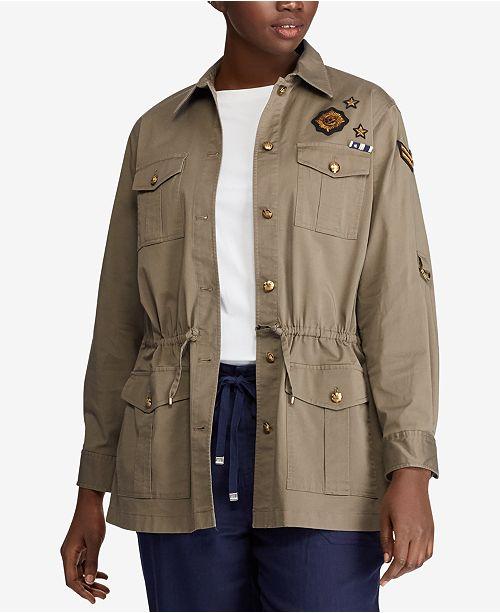 f0f19a7ca4e Lauren Ralph Lauren Plus Size Twill Utility Jacket   Reviews - Jackets ...