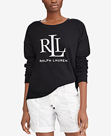Lauren Ralph Lauren Petite French Terry Cotton Sweatshirt