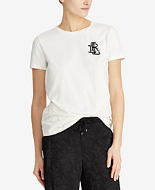 Lauren Ralph Lauren Petite Graphic T-Shirt, Created for Macy's