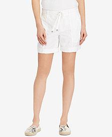 Lauren Ralph Lauren Twill Drawstring Cotton Shorts