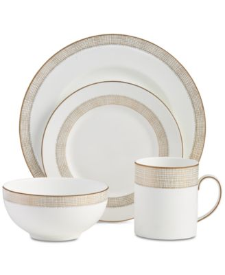 Dinnerware, Gilded Weave Gold 4-Pc. Place Setting