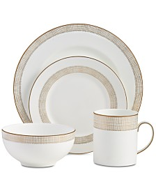 Vera Wang Wedgwood Dinnerware, Gilded Weave Gold 4-Pc. Place Setting