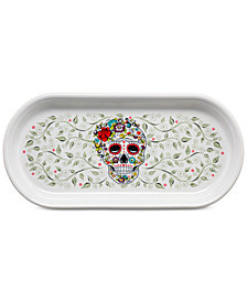 Fiesta Skull and Vine Sugar Bread Tray