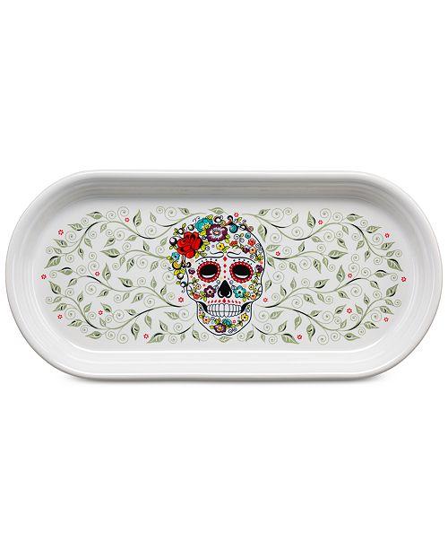 Fiesta Skull and Vine Sugar Bread Tray