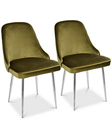 Marcel Dining Chair (Set of 2) - Chrome Finish, Quick Ship