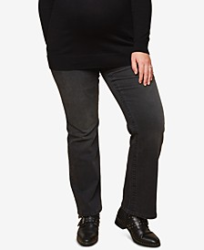 Plus Size Boot Cut Maternity Jeans