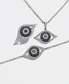 de1e17f79 EFFY® Sapphire & Diamond Evil Eye Collection in 14k White Gold