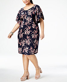 Lucky Brand Trendy Plus Size Printed Sheath Dress