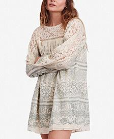 Free People Sun Daze Cotton Lace-Contrast Mini Dress