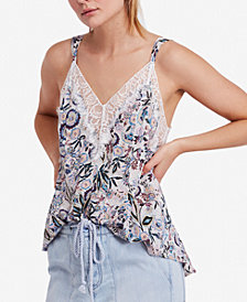 Free People Infinite Love Lace-Trim Camisole