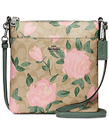 COACH Camo Rose Signature Crossbody