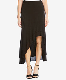 Karen Kane High-Low Tiered-Hem Skirt