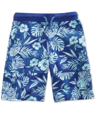 Floral-Print Cotton Shorts, Toddler Boys, Created for Macy's